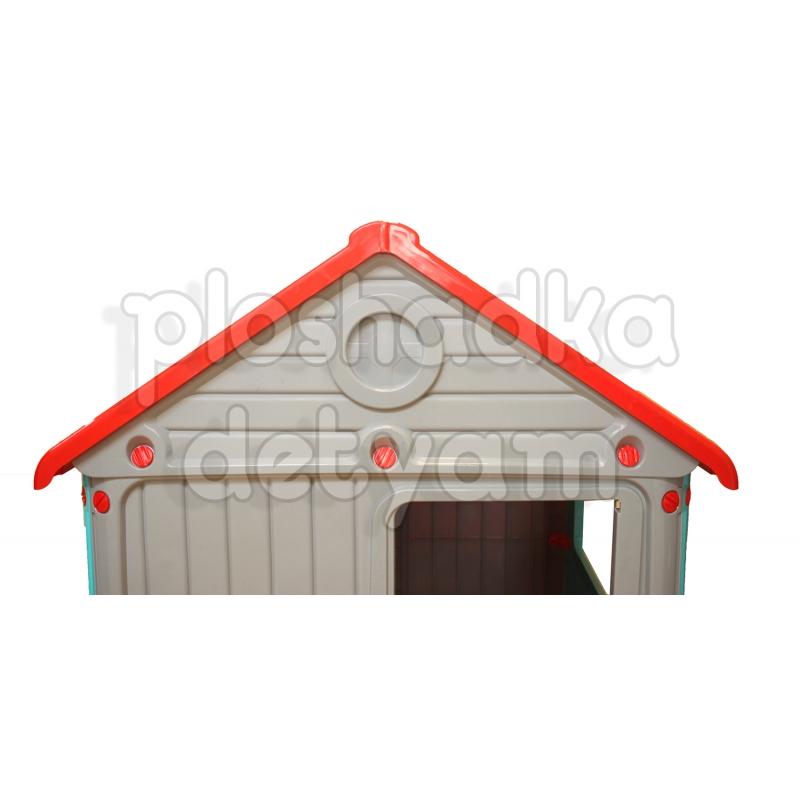 Игровой домик Dolu с ограждением DL_3013 серый
