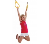 Пластиковые гимнастические кольца желтые