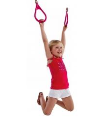 Пластиковые гимнастические кольца розовые