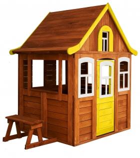 Детский домик Цветочный желтый