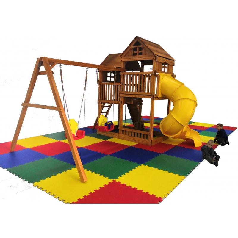 Детский игровой комплекс Р955-2 с трубой Можга Красная Звезда