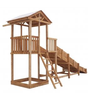 Спортивный городок с узкой лестницей