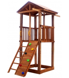 Комплекс Tower с узким скалодромом крыша дерево...