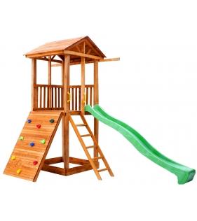 Комплекс Tower широкий скалодром с горкой крыша дерево