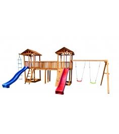 Детская площадка 6 с качелями и узким скалодромом...