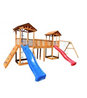Детская площадка 6 с качелями и широким скалодромом...