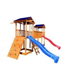 Детская площадка 6 крыша тент с широким скалодромом