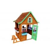 Детский домик Цветочный c кухней и цветочницами...