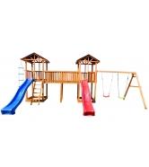 Детская площадка Спортивный городок 6 крыша тентс качелями...