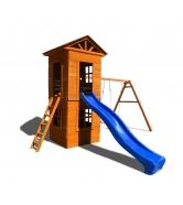 Детская площадка Спортивный городок 8 c узкой лестницей...