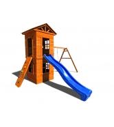 Детская площадка Спортивный городок 8 c узким скалодромом...